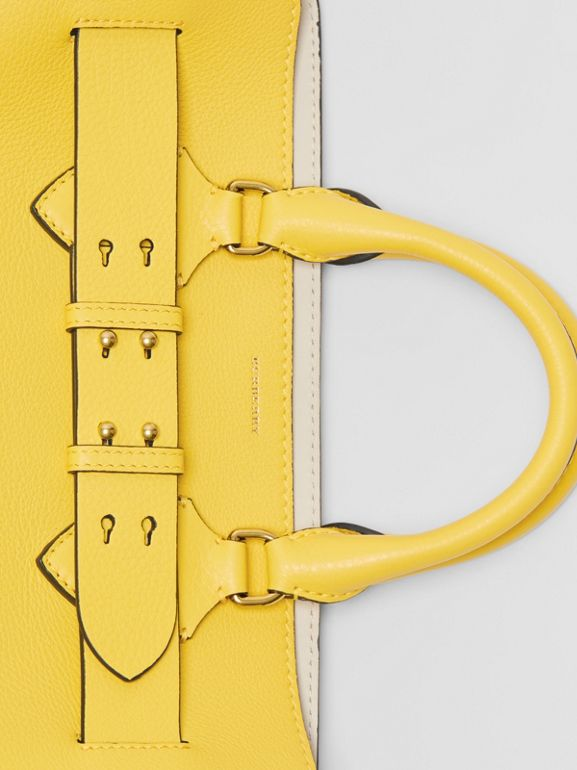 The Medium Leather Belt Bag in Bright Larch Yellow - Women | Burberry Australia - cell image 1
