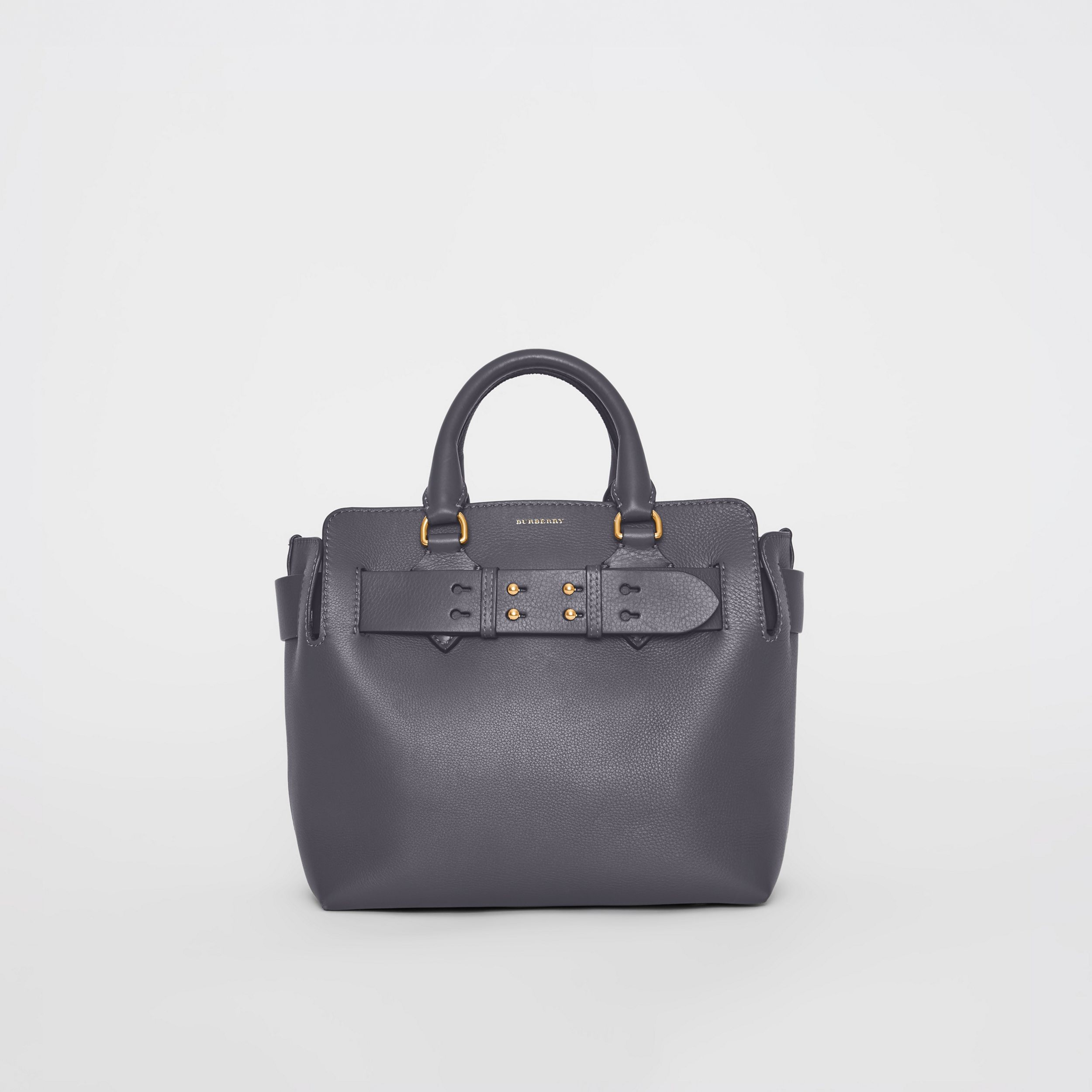 The Small Leather Belt Bag in Charcoal Grey - Women | Burberry - 1