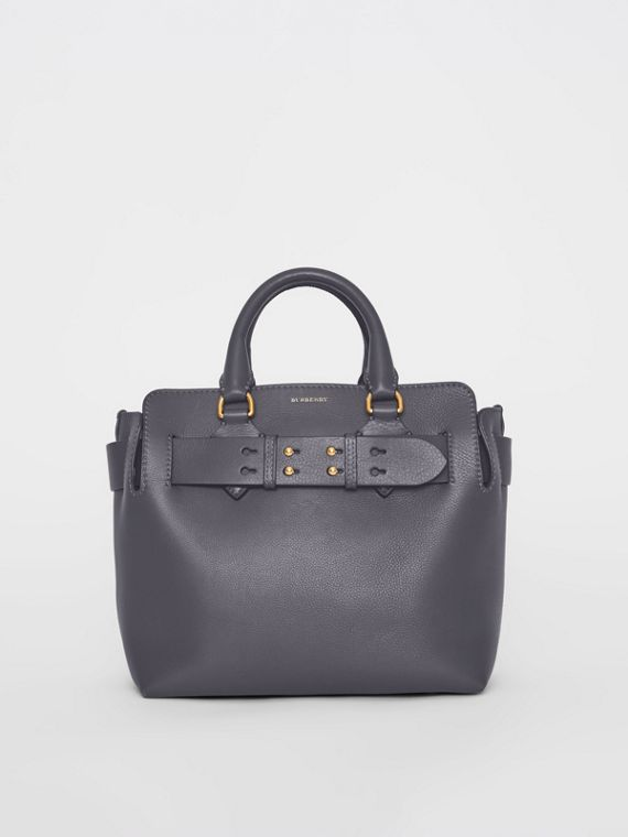 The Small Leather Belt Bag in Charcoal Grey