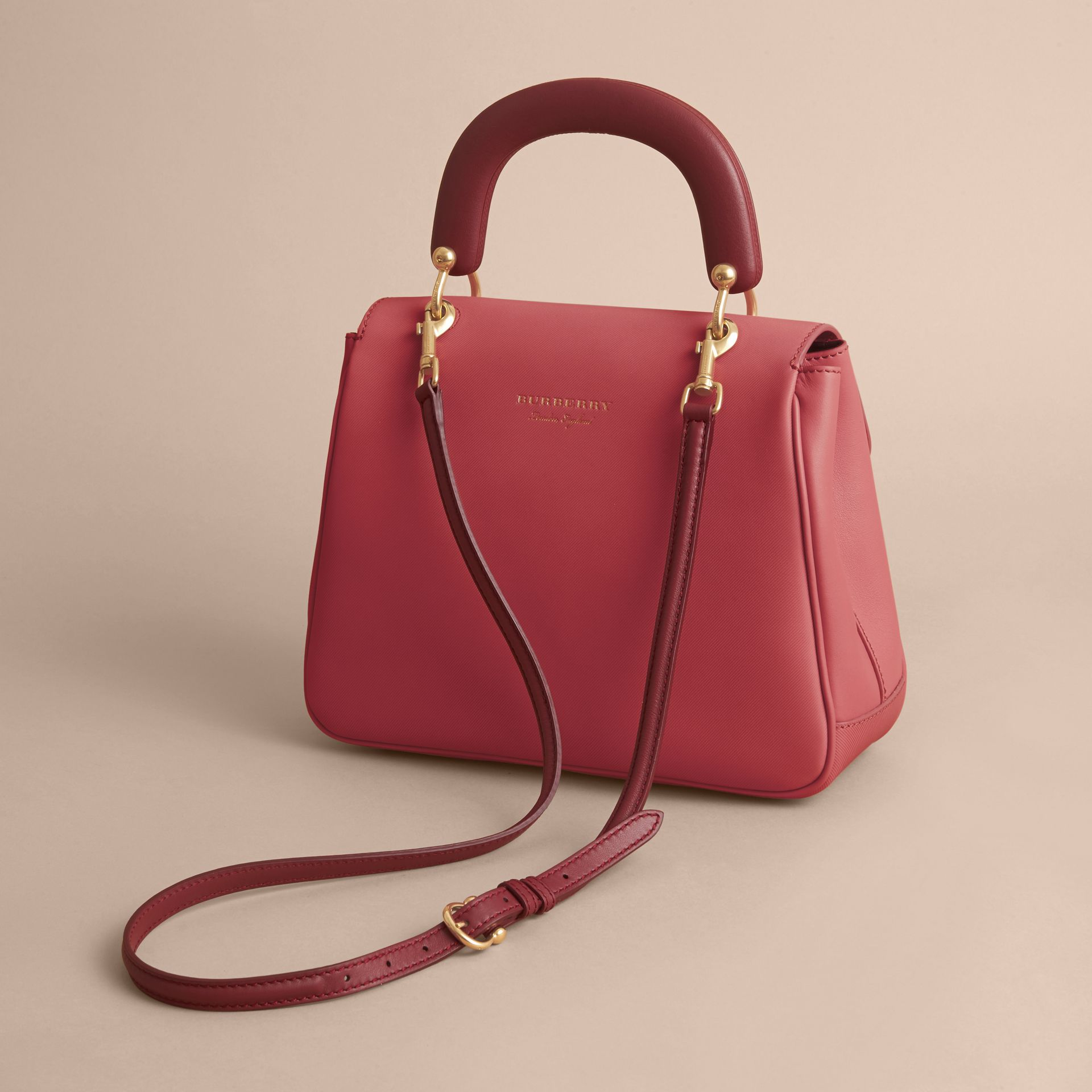 The Medium DK88 Top Handle Bag Blossom Pink - gallery image 5
