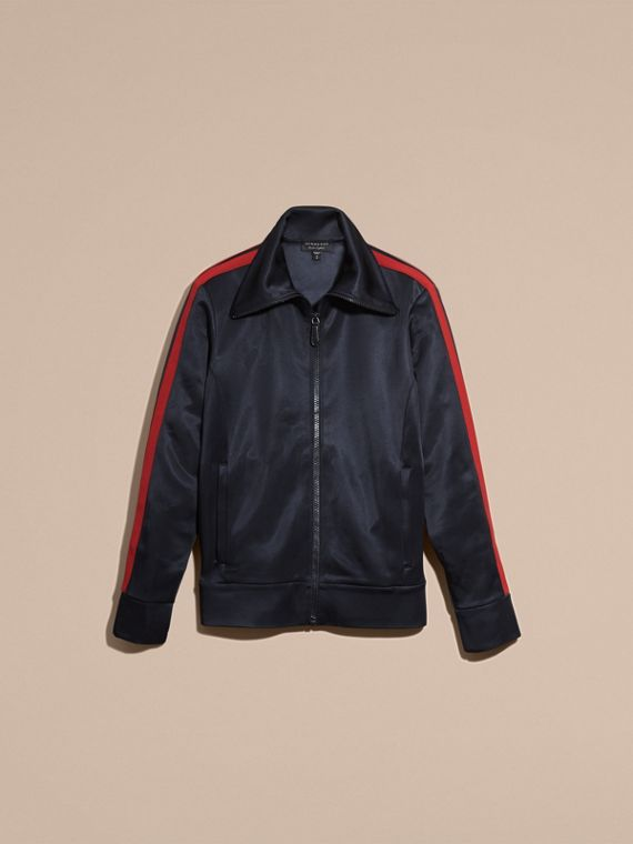 Navy High-shine Technical Track Jacket - cell image 3