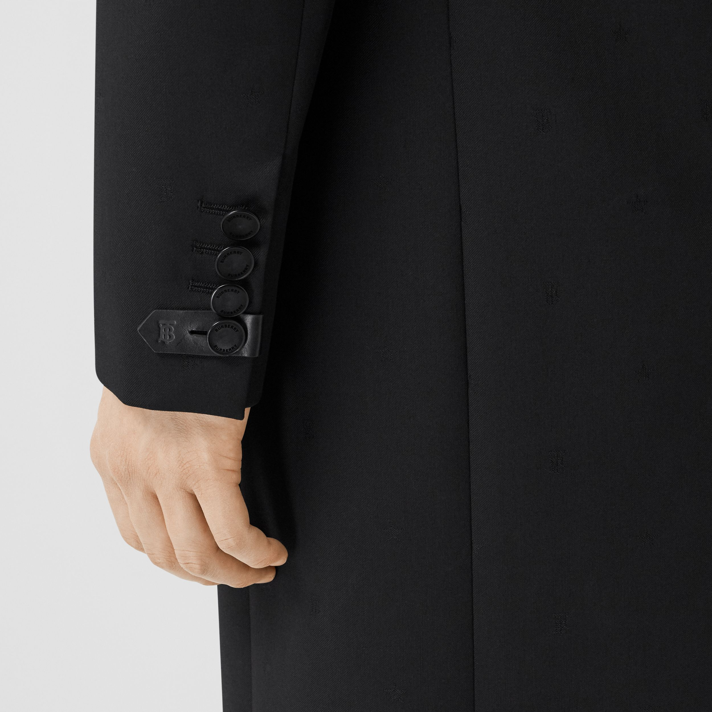 Wool Silk Tailored Coat in Black - Men | Burberry - 2