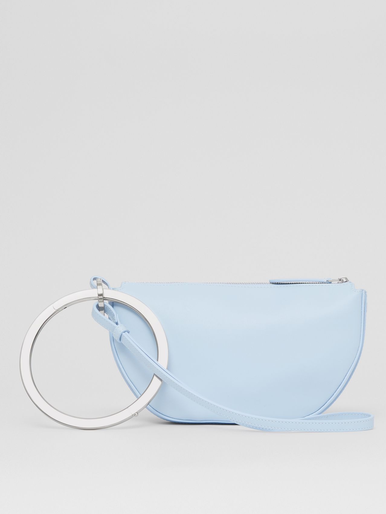 Mini Leather Double Olympia Bag in Pale Blue