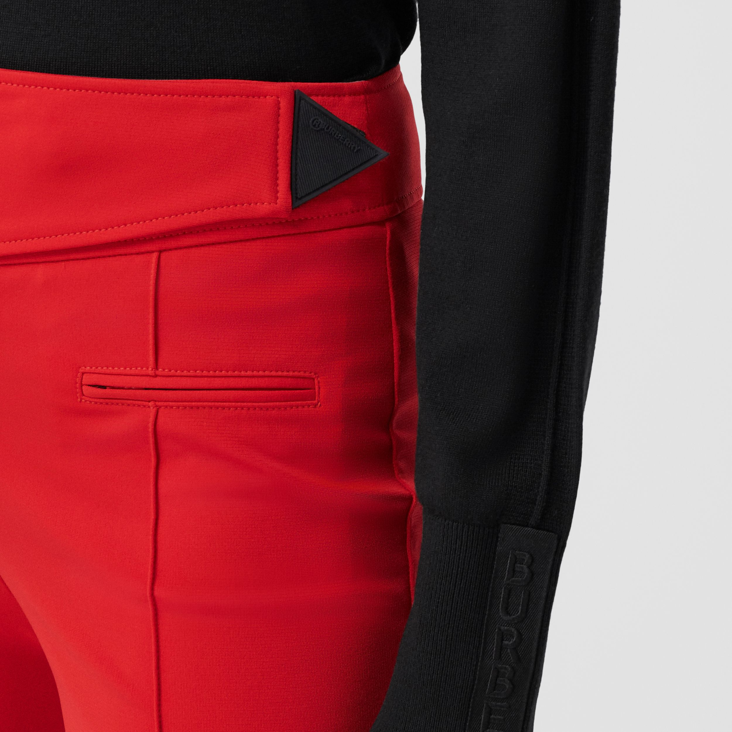 Stretch Crepe Jersey Jodhpurs in Bright Red - Women | Burberry - 2