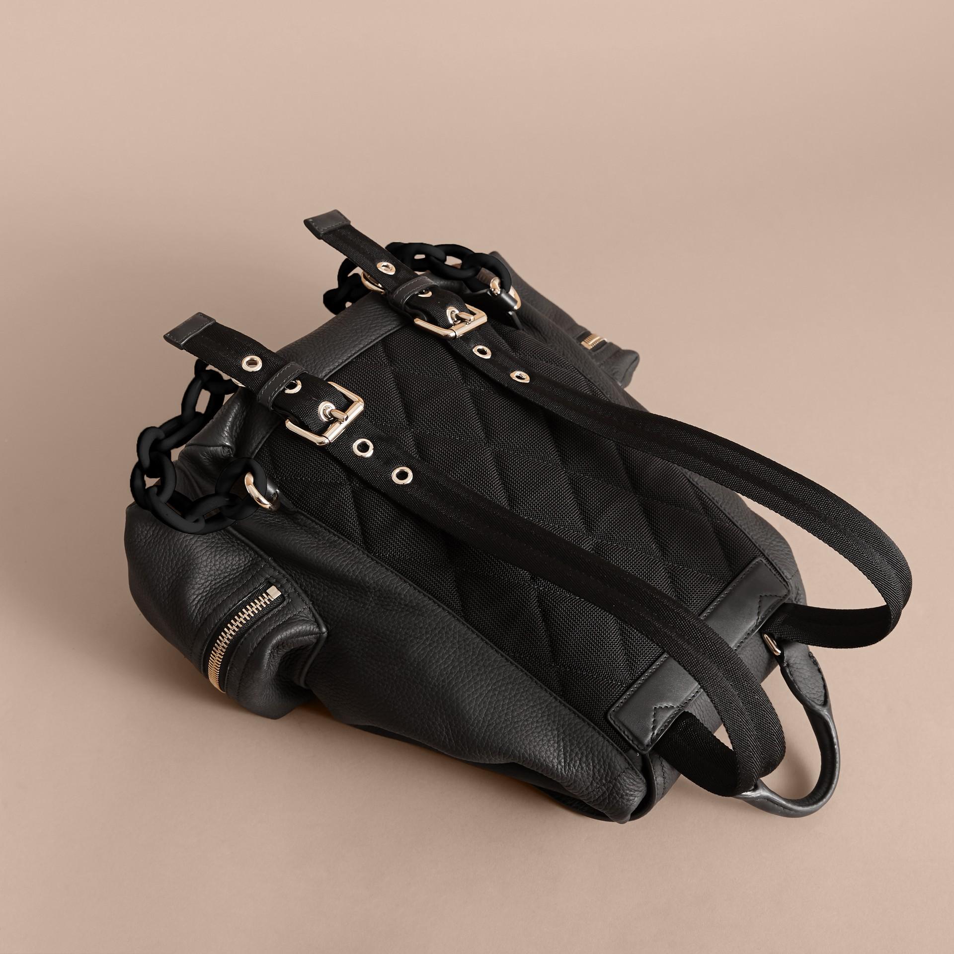 The Medium Rucksack in Deerskin with Resin Chain in Black - gallery image 4