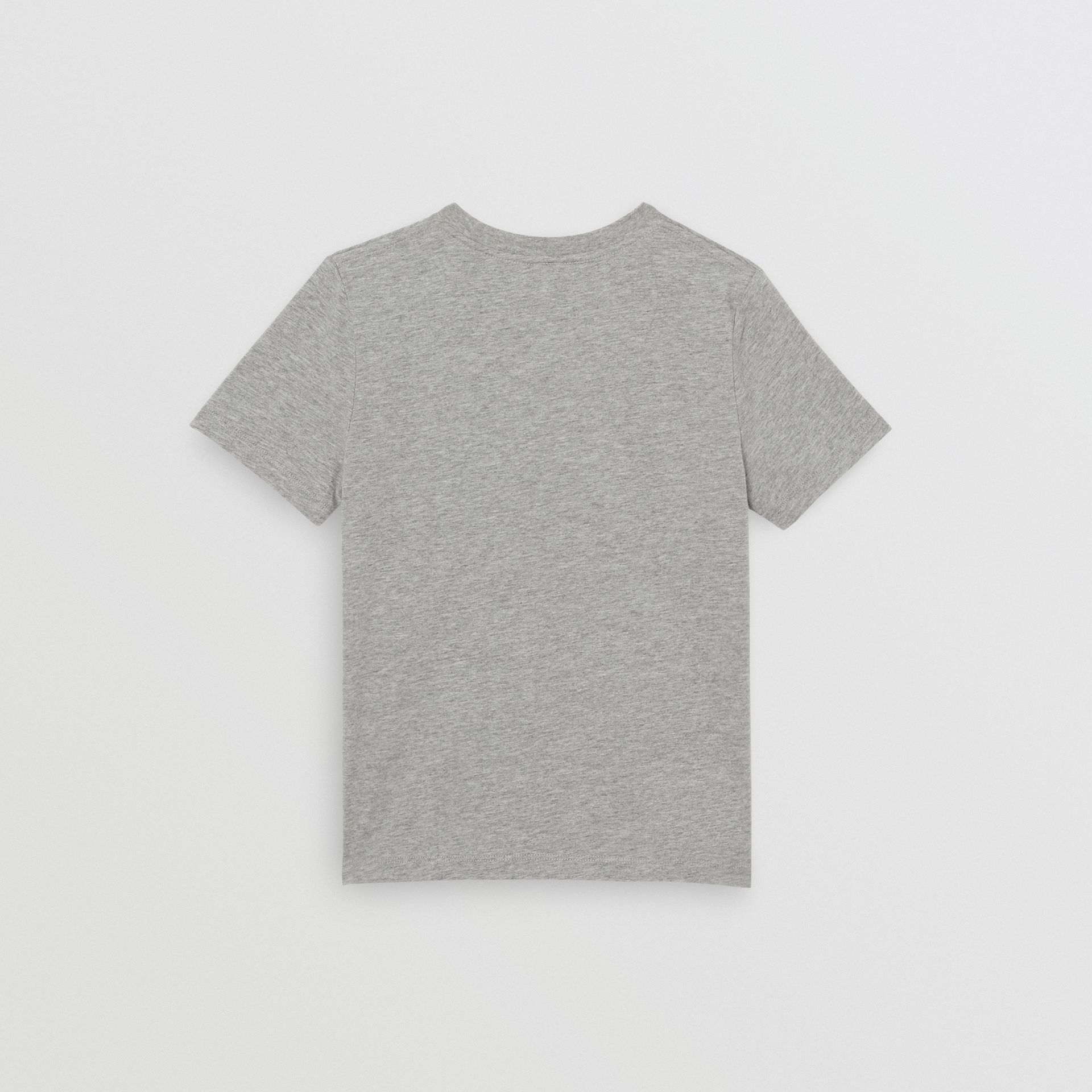 Logo Print Cotton T-shirt in Grey Melange | Burberry - gallery image 4