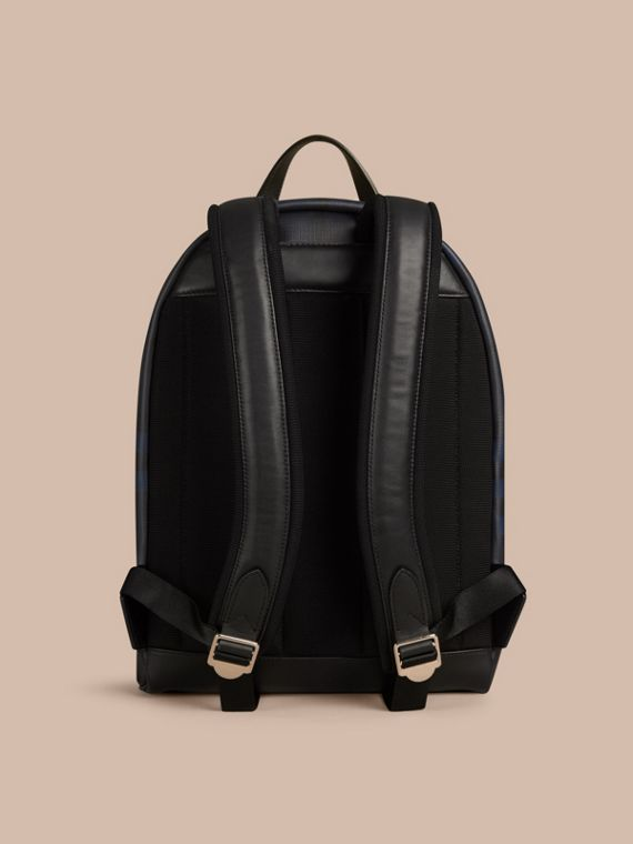 Navy/black London Check Backpack Navy/black - cell image 3
