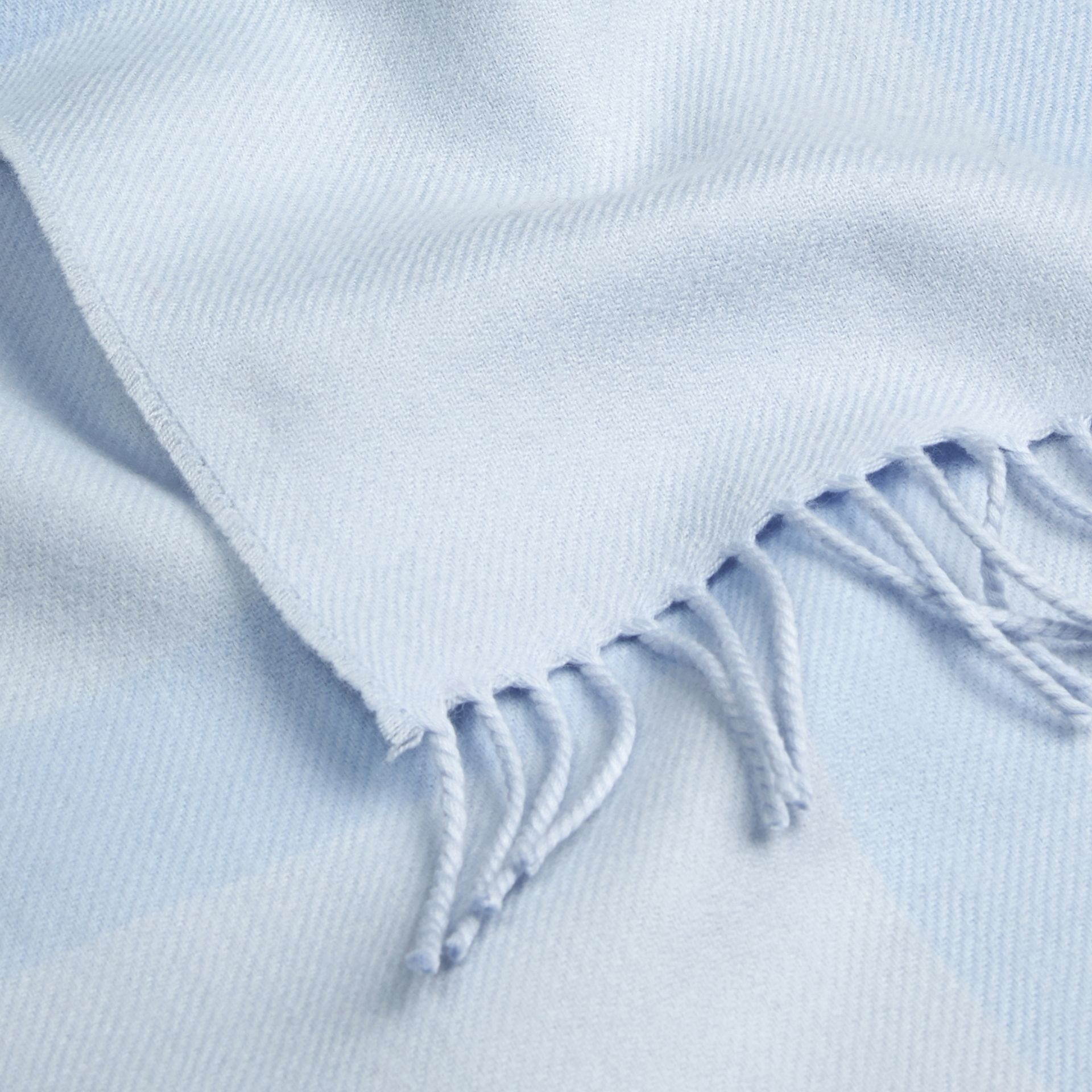 Check Merino Wool Baby Blanket Ice Blue - gallery image 2