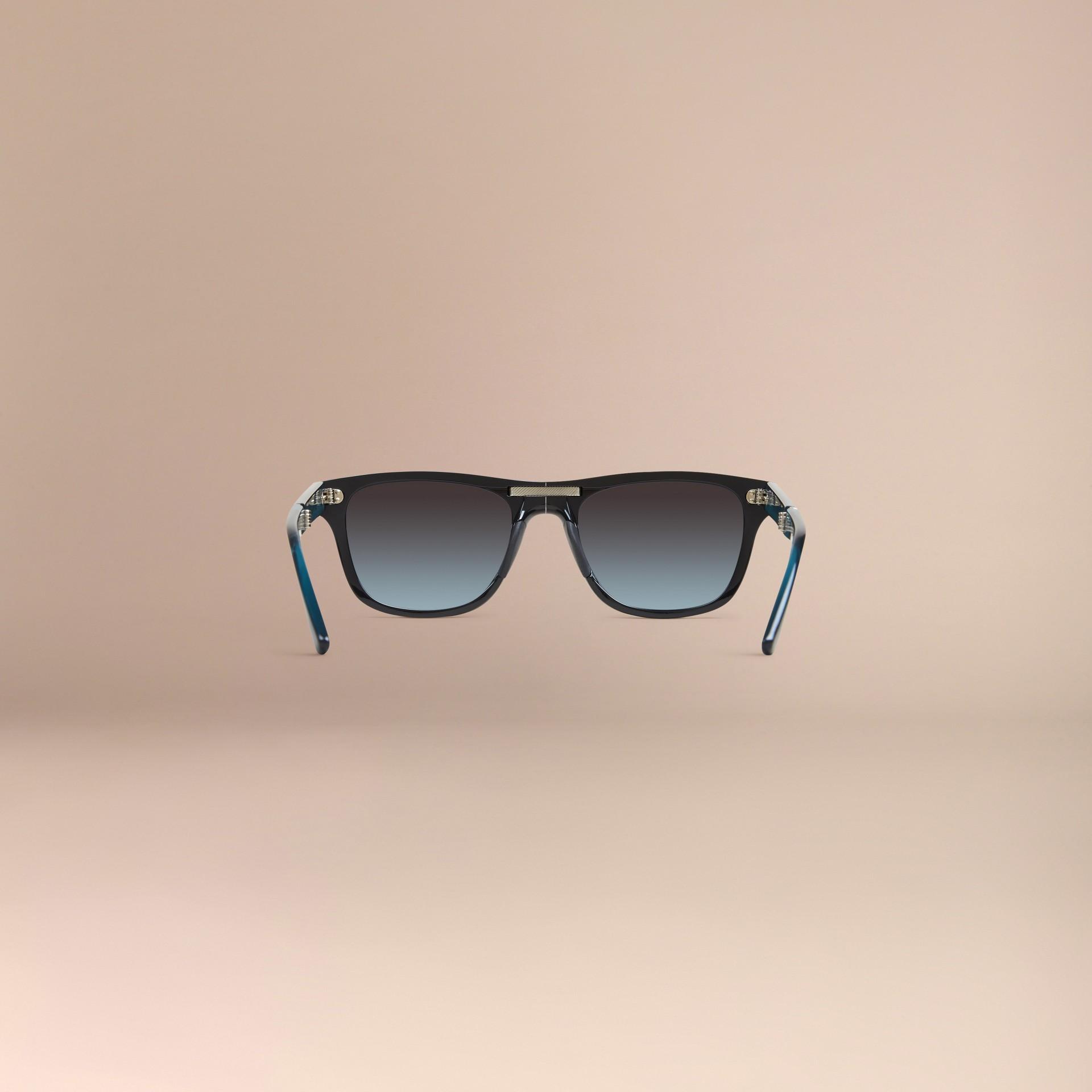 Nero Occhiali da sole con montatura rettangolare pieghevole Nero - immagine della galleria 5