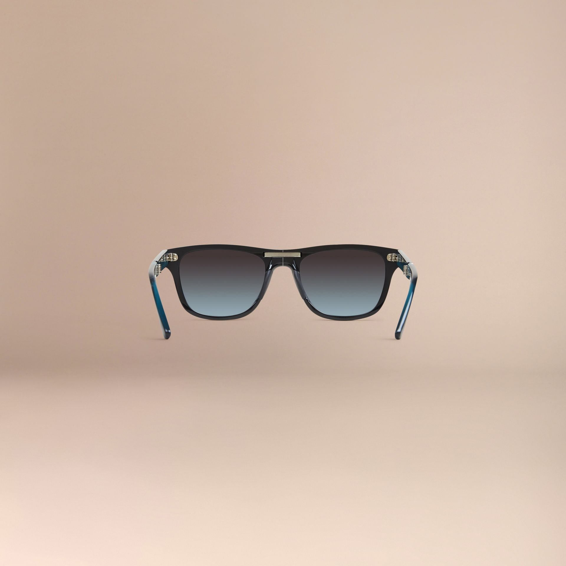 Black Foldable Rectangular Frame Sunglasses - gallery image 5