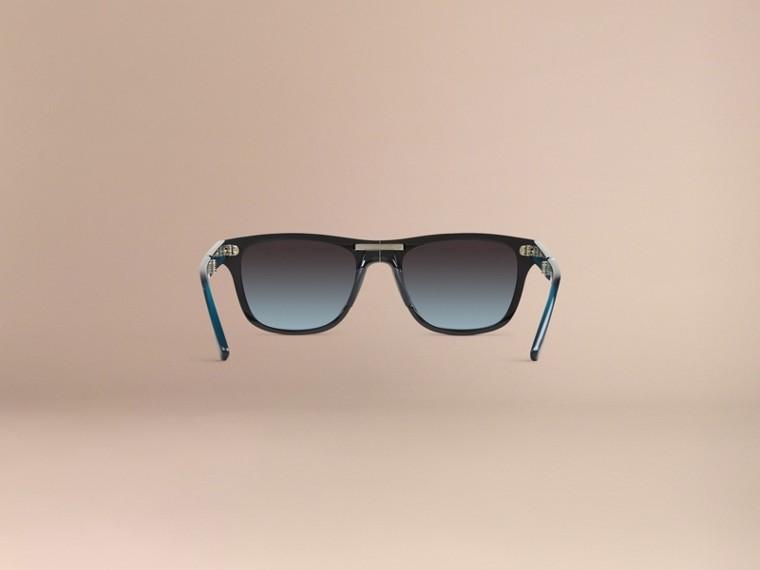 Black Foldable Rectangular Frame Sunglasses - cell image 4