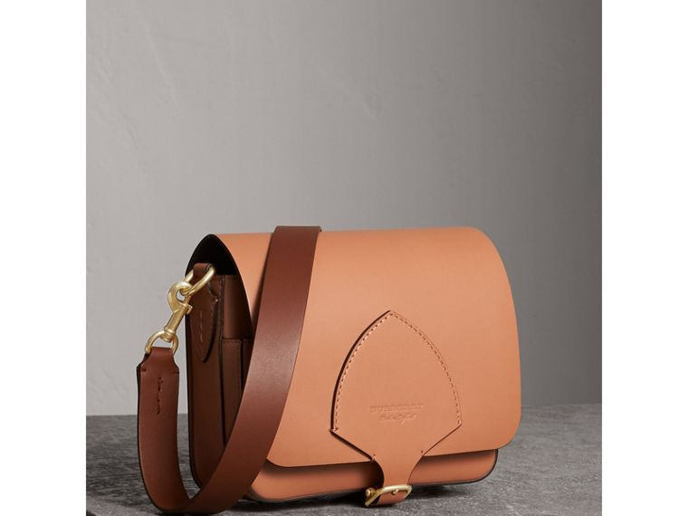 The Square Satchel in Leather in Camel - Women | Burberry - cell image 4