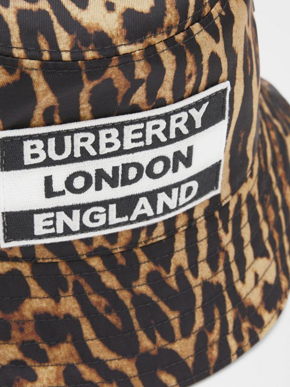 Reversible Logo Appliqué Leopard Print Bucket Hat | Burberry Singapore - cell image 1