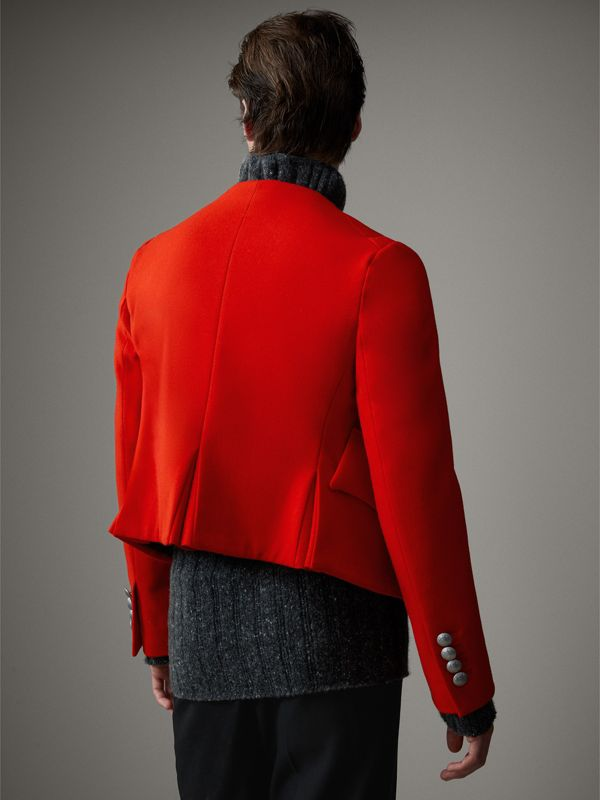 Wool Cropped Ceremonial Jacket in Orange Red - Men | Burberry United Kingdom - cell image 2