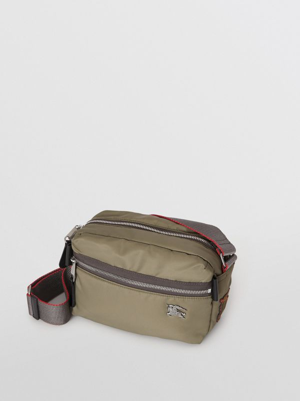 EKD Aviator Nylon and Leather Crossbody Bag in Celadon - Men | Burberry United Kingdom - cell image 3