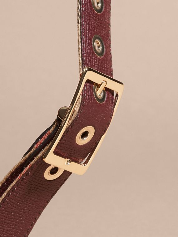 Camel/mahogany red Reversible House Check and Grainy Leather Belt Camel/mahogany Red - cell image 3