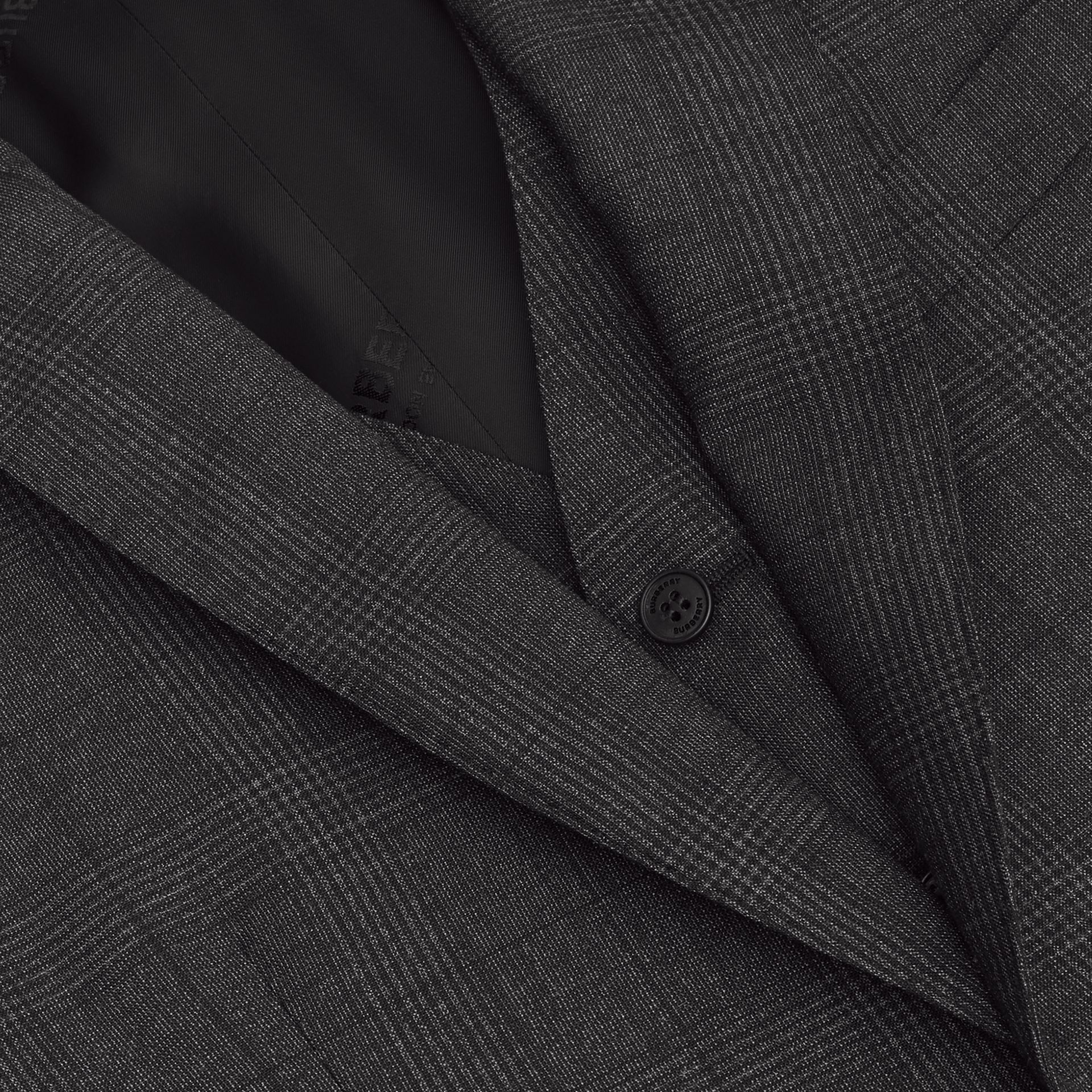 Classic Fit Check Wool Three-piece Suit in Charcoal Melange - Men | Burberry - gallery image 8