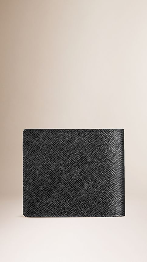 Black London Leather Folding Wallet - Image 2