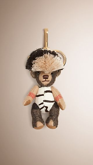 Thomas Bear Charm in Cashmere and Calfskin