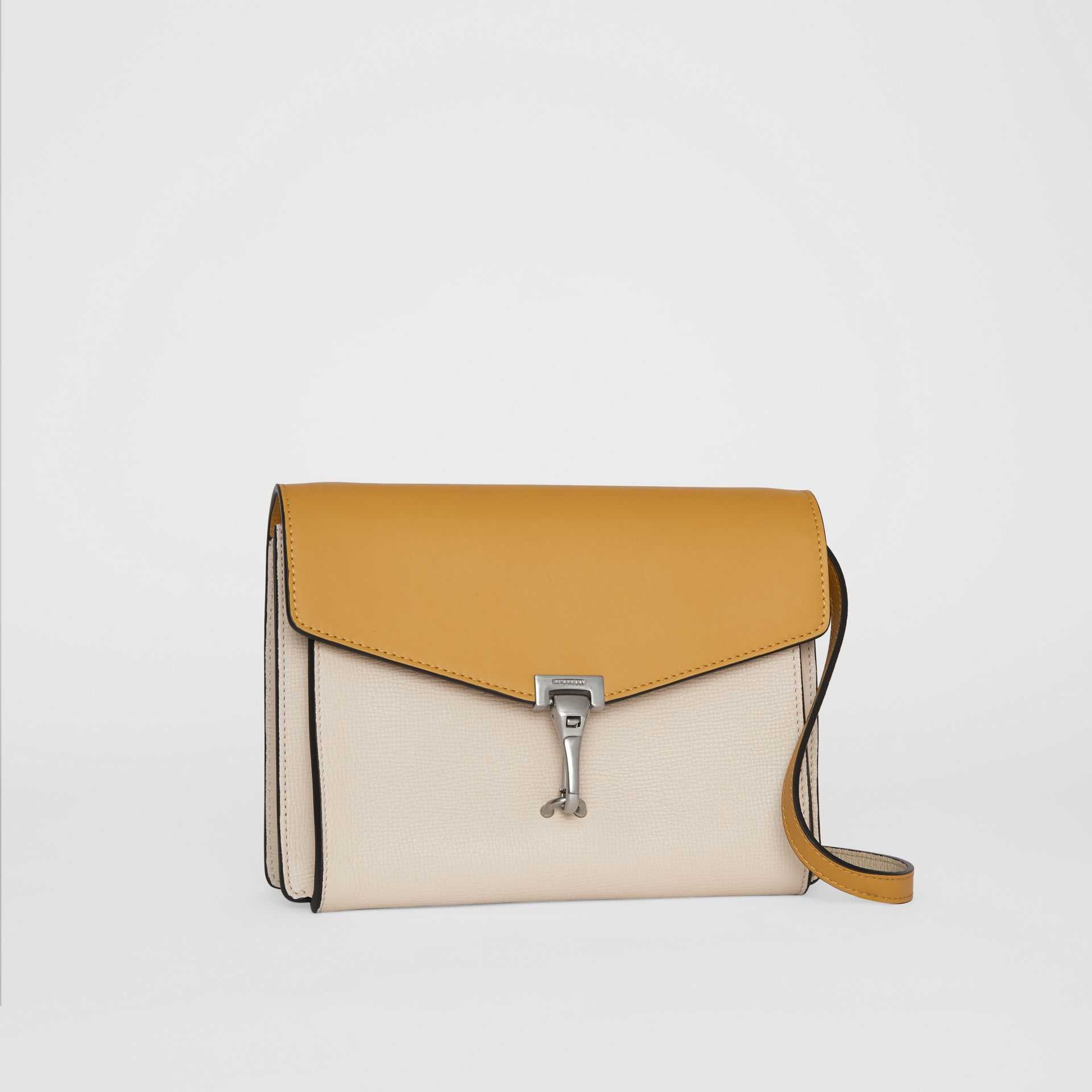 Two-tone Leather Crossbody Bag in Limestone/cornflower Yellow - Women | Burberry United Kingdom - gallery image 6