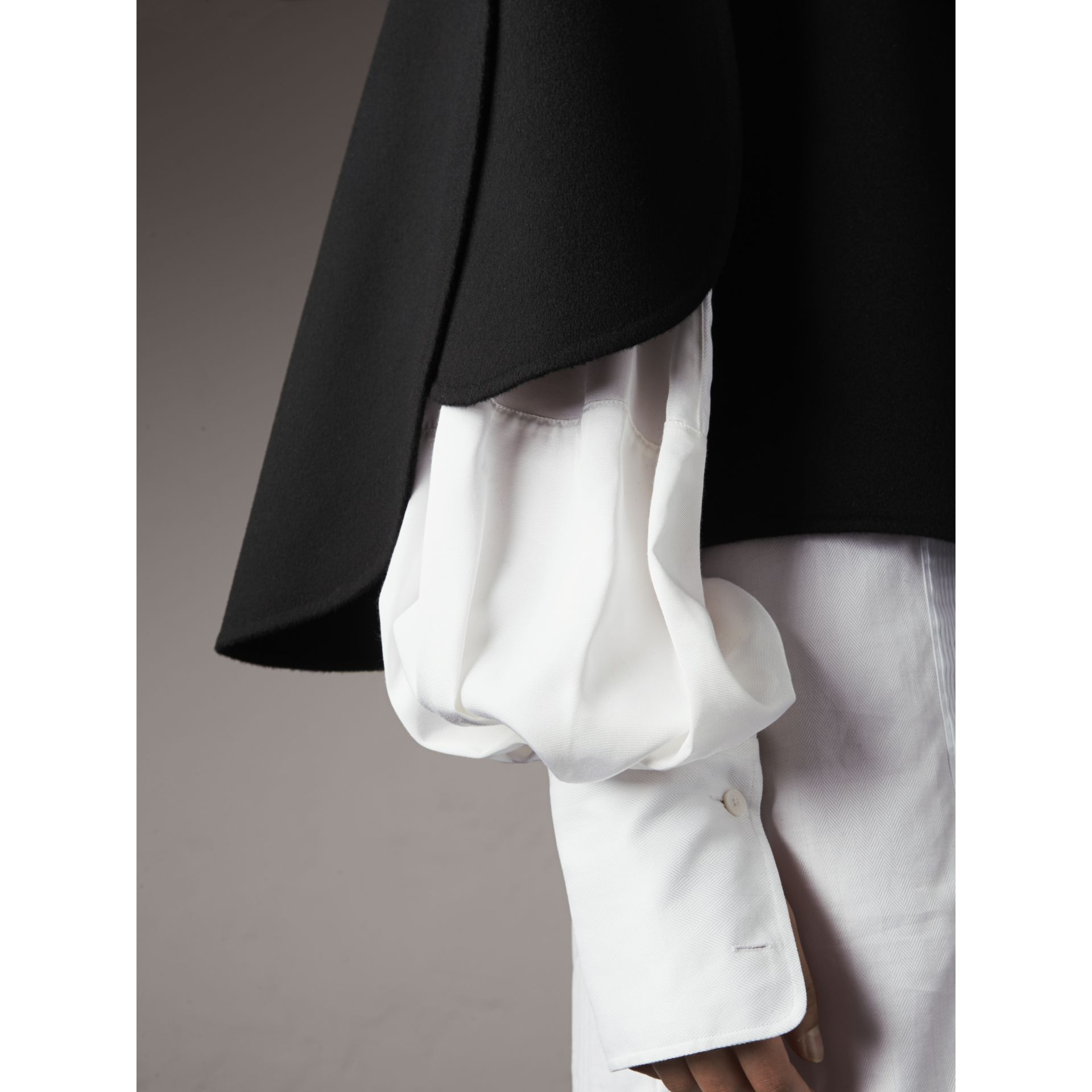 Curved Hem Wool Cashmere Cape - Women | Burberry Hong Kong - gallery image 2