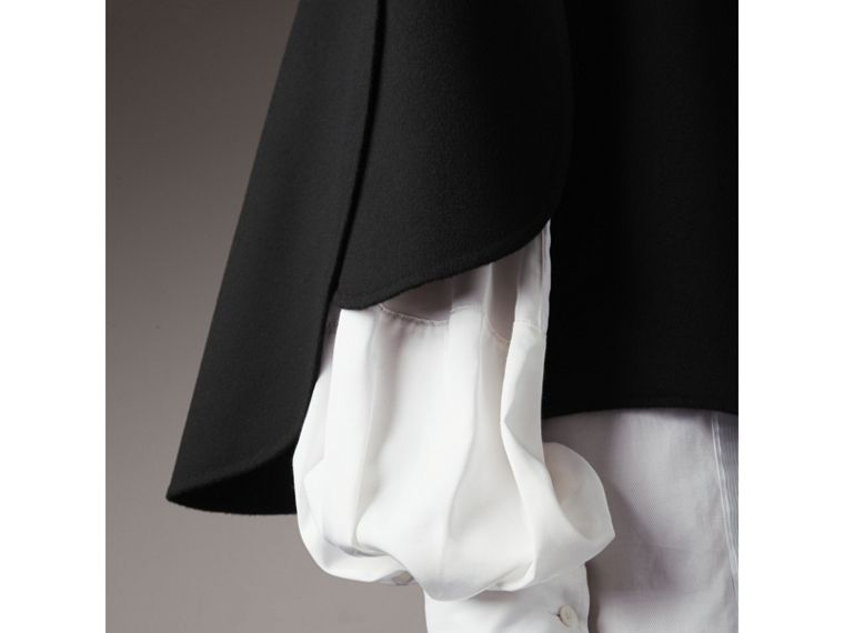 Curved Hem Wool Cashmere Cape - Women | Burberry Hong Kong - cell image 1