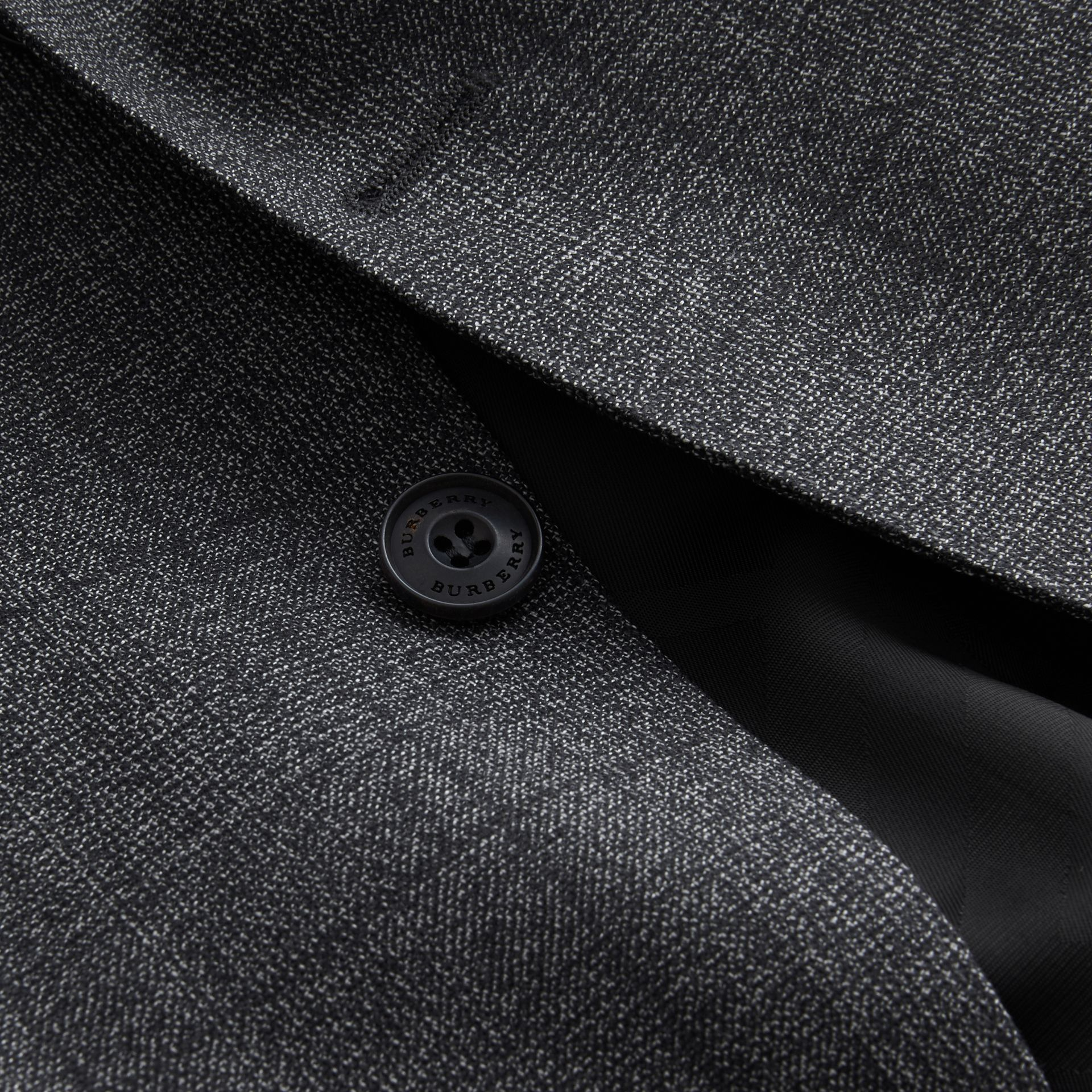 Slim Fit Check Half-canvas Wool Suit - gallery image 2