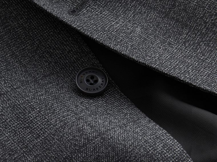 Slim Fit Check Half-canvas Wool Suit - cell image 1