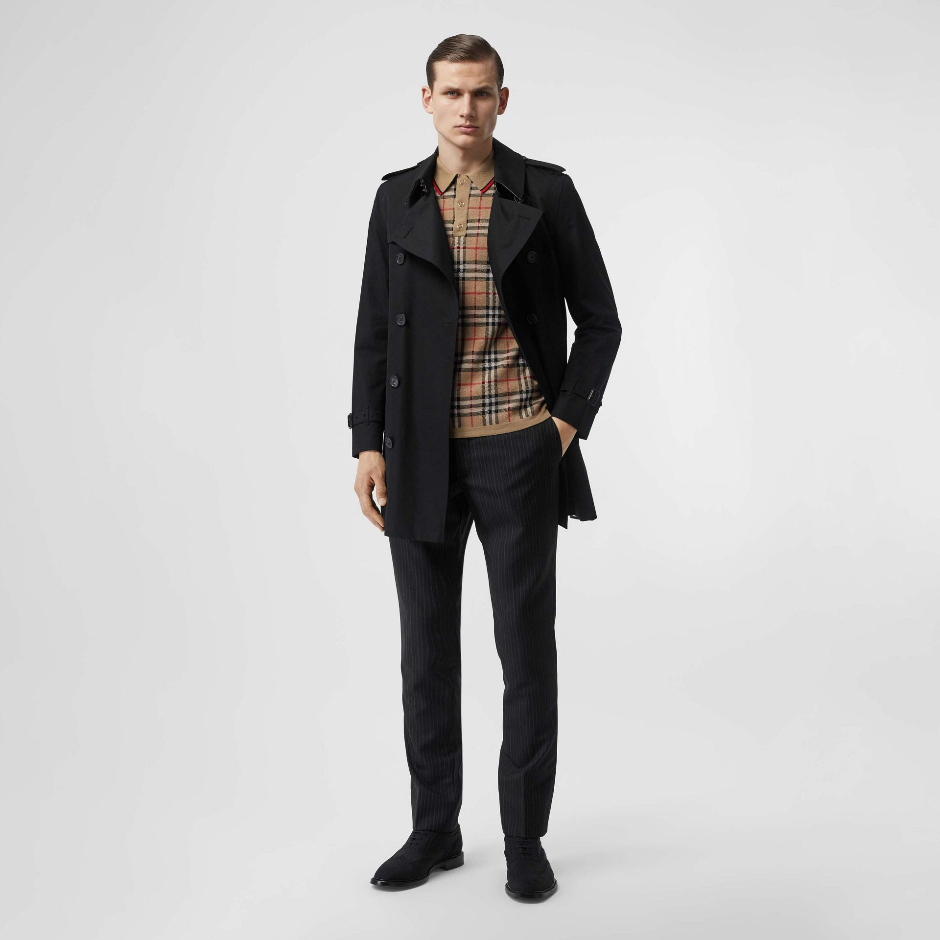 Cotton Gabardine Trench Coat in Black - Men | Burberry - gallery image 0