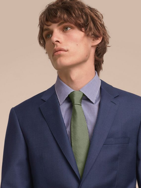 Modern Cut Silk Twill Tie in Eucalyptus Green - Men | Burberry Singapore - cell image 2