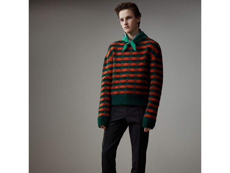 Jersey Cropped Tailored Riding Trousers in Black - Men   Burberry - cell image 4