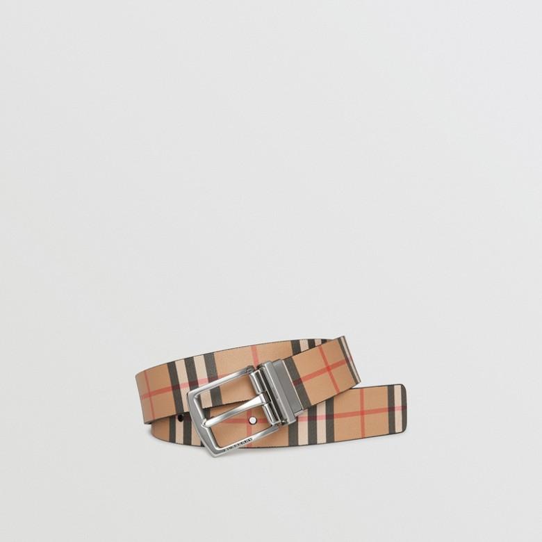 Burberry - Wendbarer Ledergürtel in Vintage Check - 1