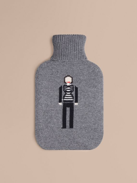 The Brit Girl Graphic Cashmere Hot Water Bottle Cover