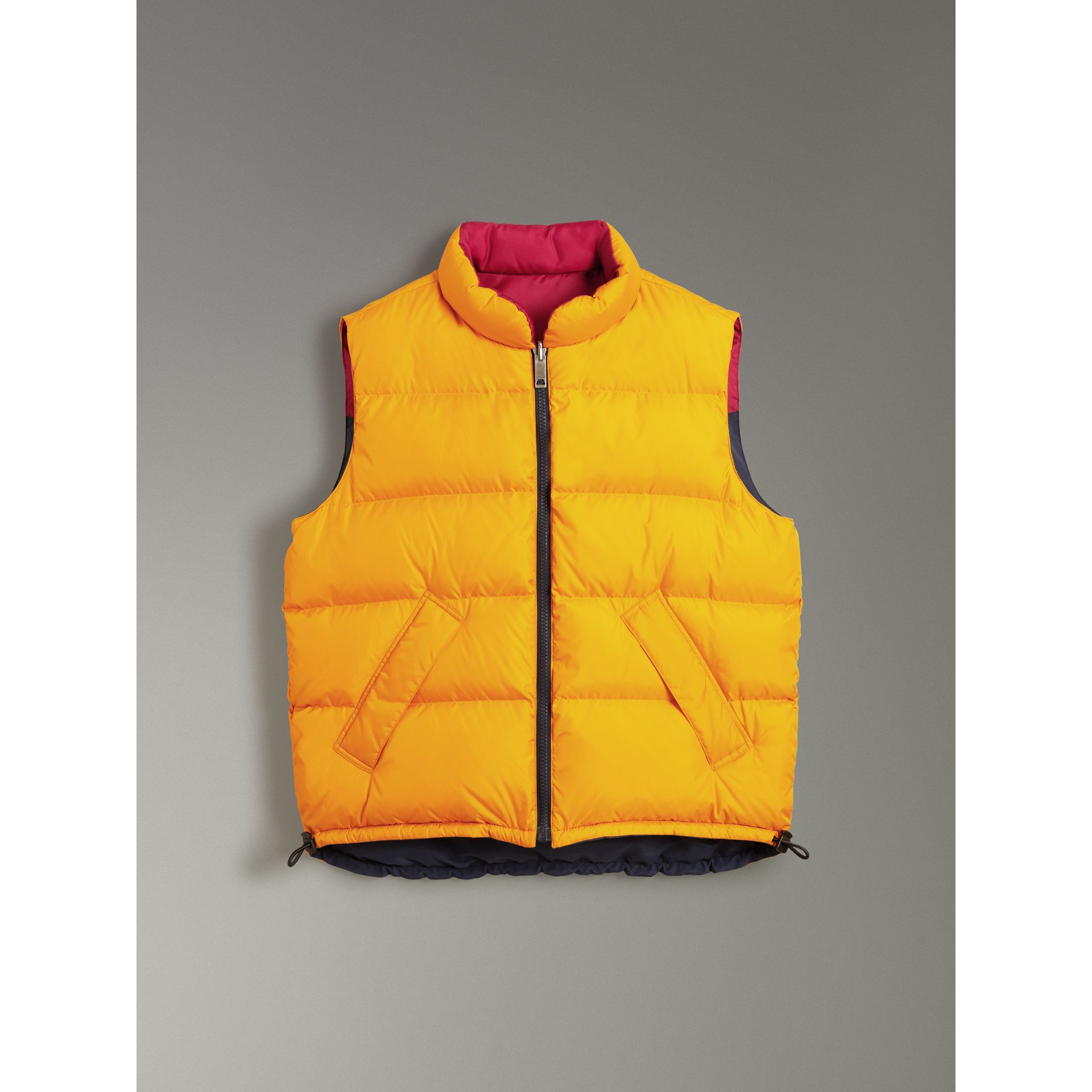 Colour Block Reversible Gilet in Navy - Men | Burberry - gallery image 3