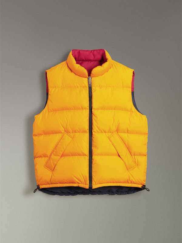 Colour Block Reversible Gilet in Navy - Men | Burberry - cell image 3