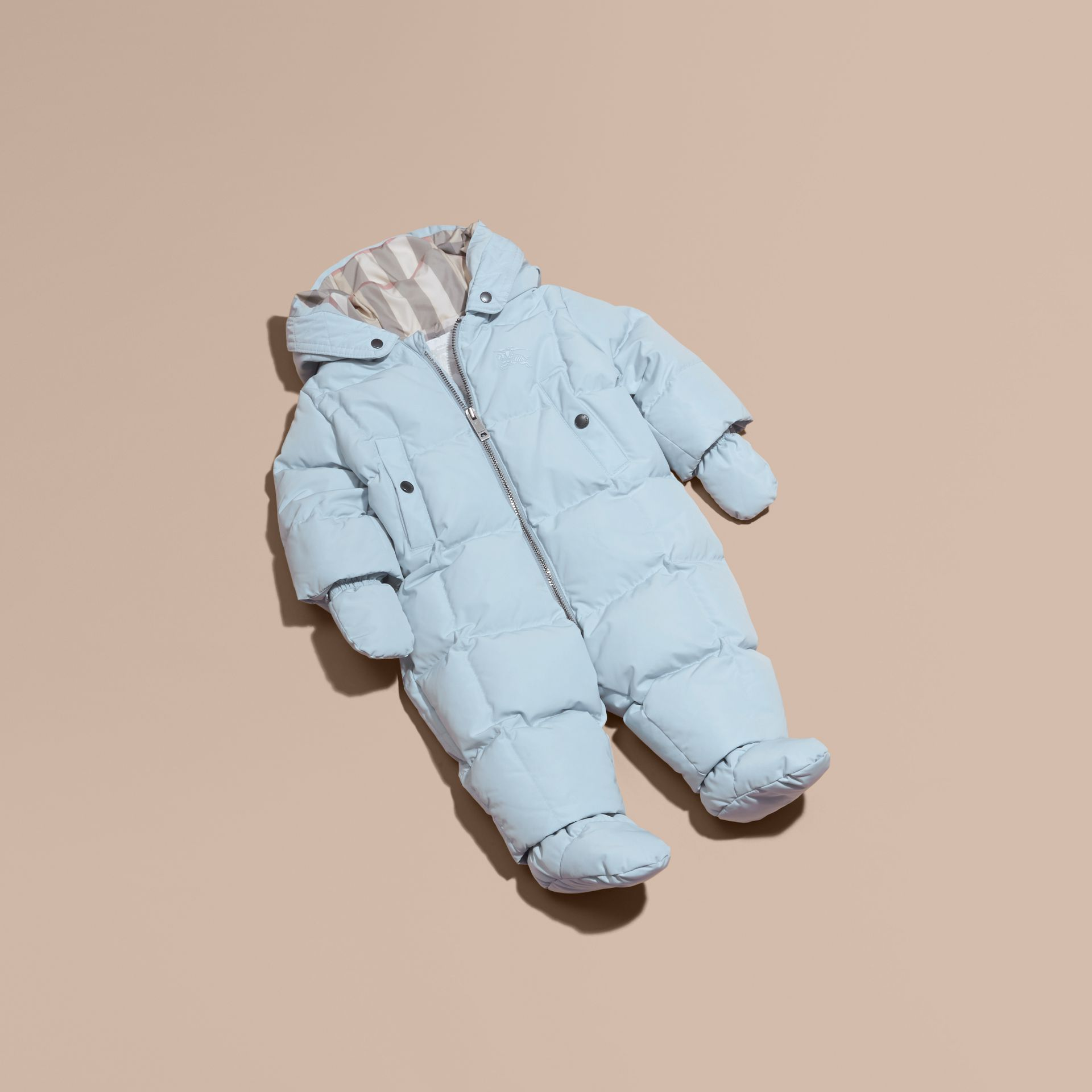 Ice blue Down-filled Puffer Suit Ice Blue - gallery image 1