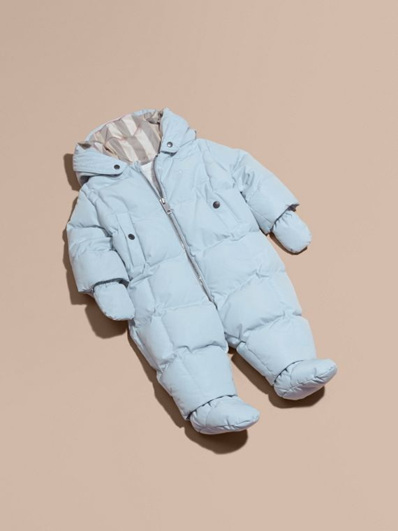 Down-filled Puffer Suit Ice Blue