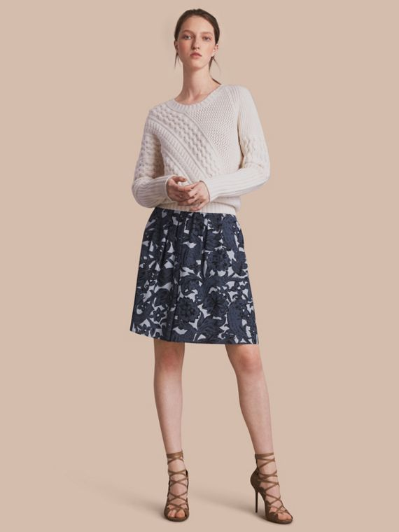 Beasts Print Silk Skirt - Women | Burberry