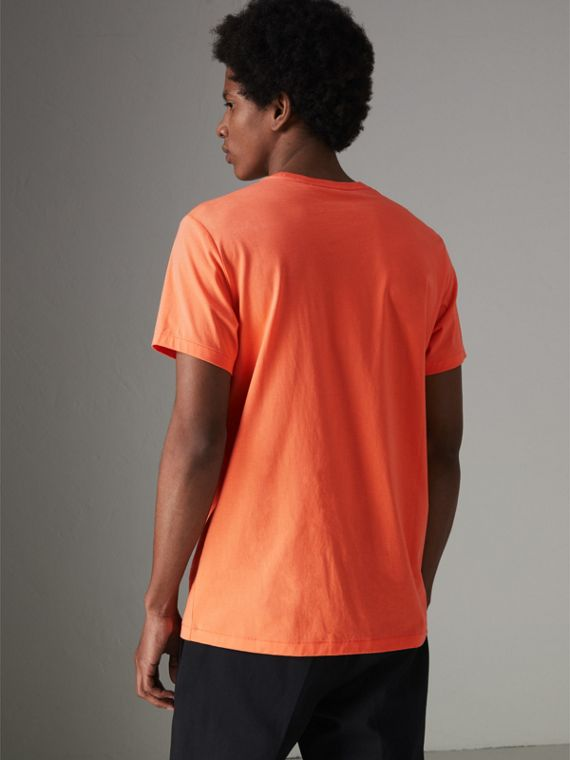 Cotton Jersey T-shirt in Bright Orange - Men | Burberry Australia - cell image 2