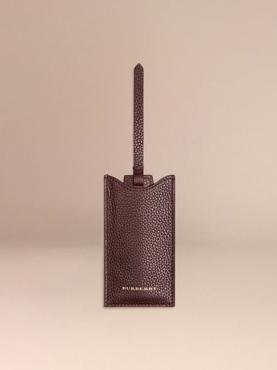 Leather Shoe Horn in Ebony Red - Men | Burberry - cell image 3