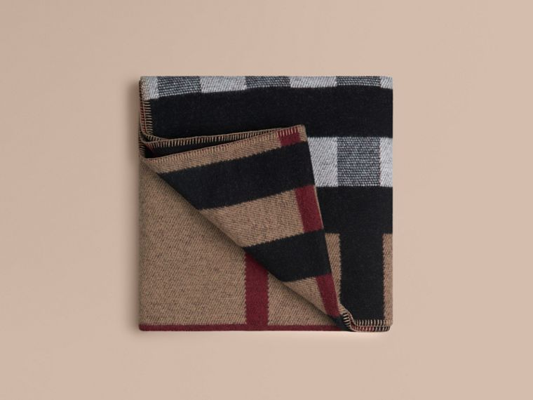 House check/nero Coperta in lana e cashmere con motivo check House Check/nero - cell image 2