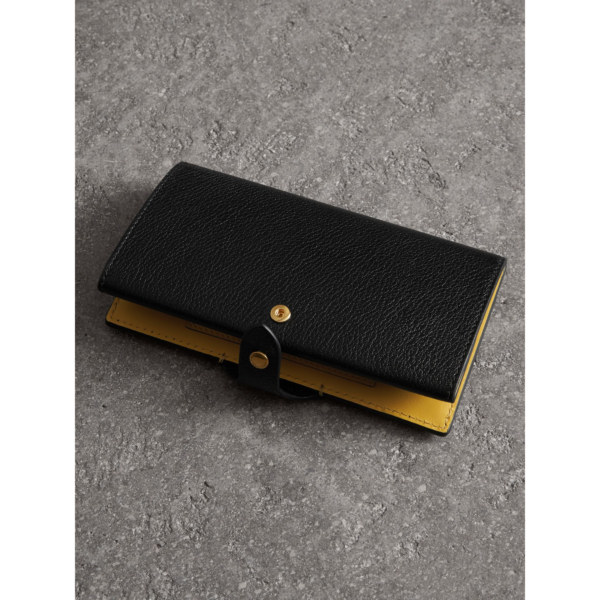 Equestrian Shield Two-tone Leather Continental Wallet in Black - Women | Burberry United Kingdom - gallery image 3