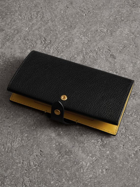 Equestrian Shield Two-tone Leather Continental Wallet in Black - Women | Burberry - cell image 3