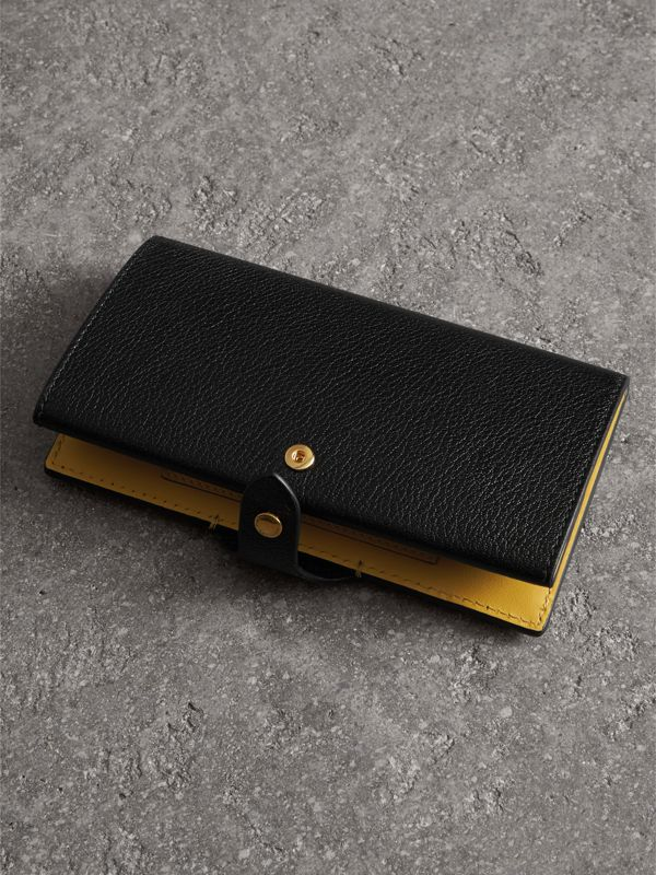 Equestrian Shield Two-tone Leather Continental Wallet in Black - Women | Burberry Australia - cell image 3