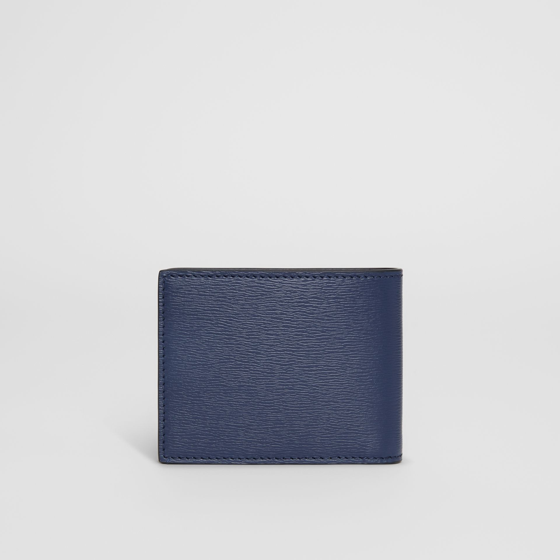 London Leather Bifold Wallet in Navy - Men | Burberry Singapore - gallery image 4