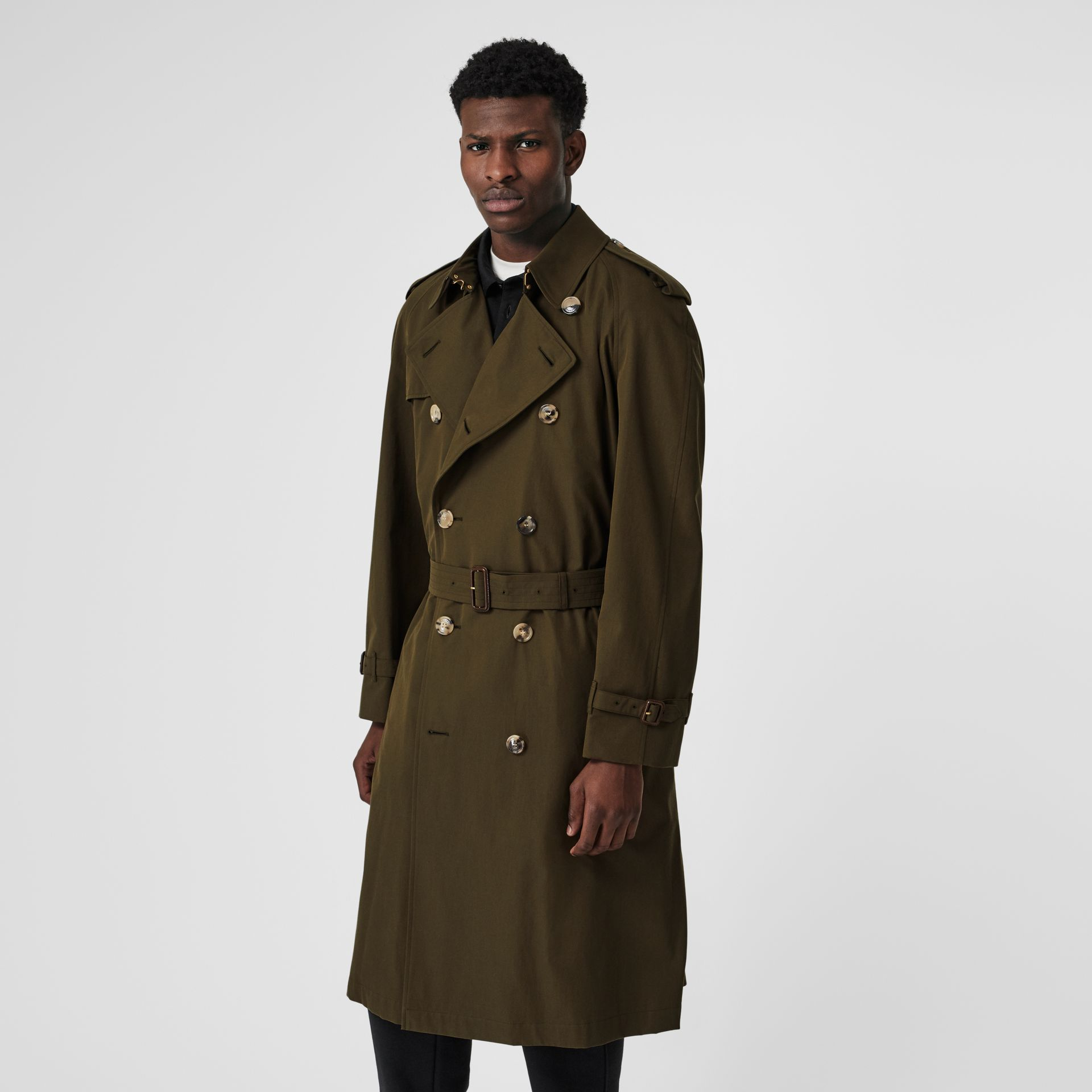 The Westminster Heritage Trench Coat in Dark Military Khaki - Men | Burberry United Kingdom - gallery image 7
