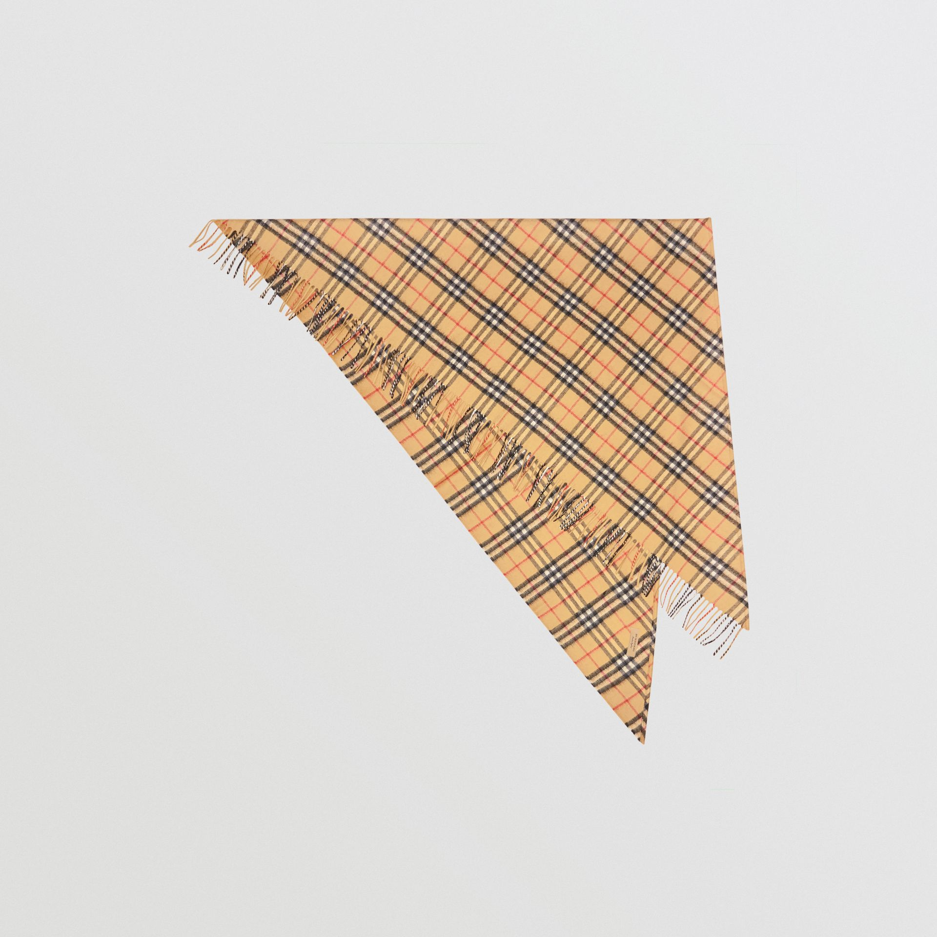 The Burberry Bandana in Vintage Check Cashmere in Antique Yellow | Burberry - gallery image 0