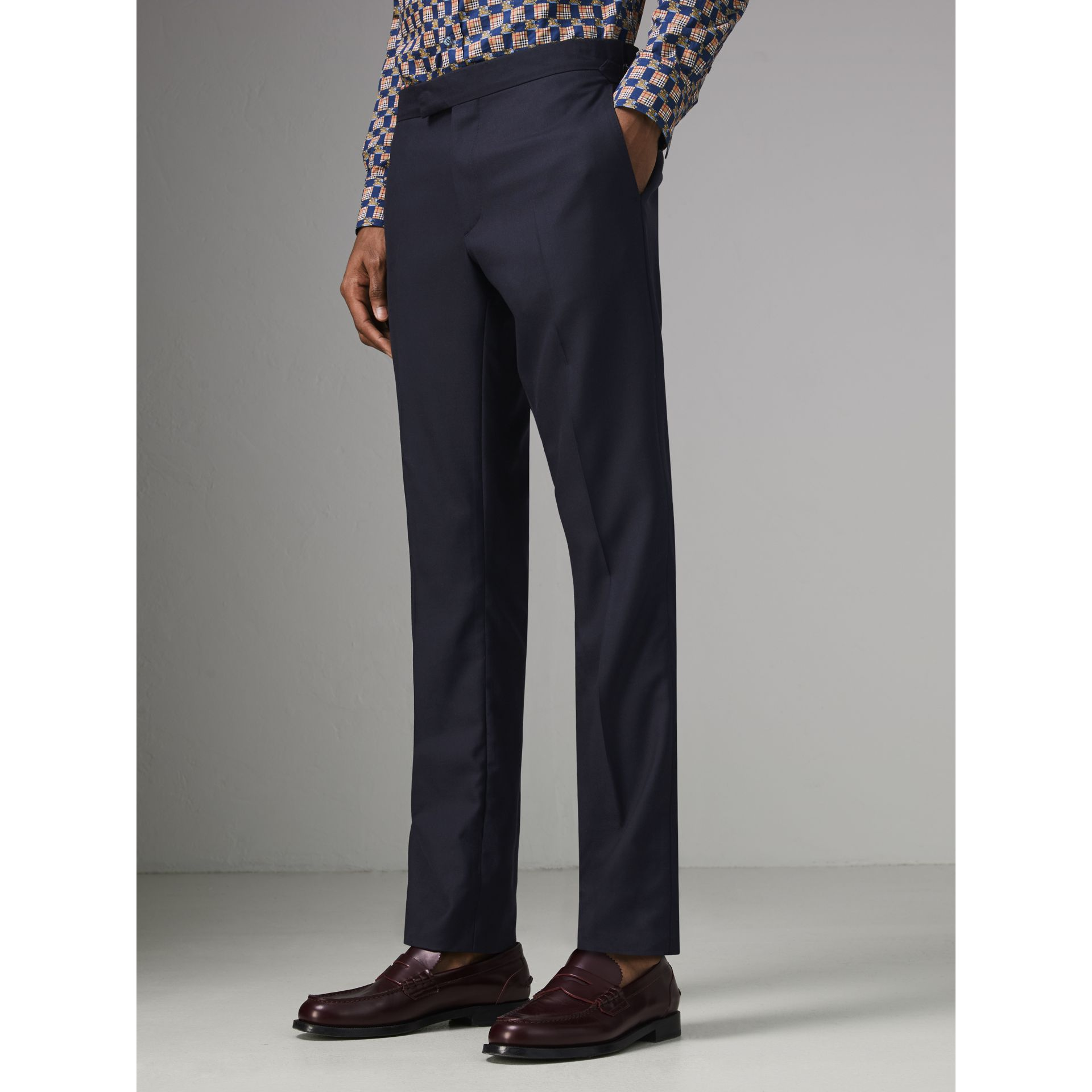 Slim Fit Wool Twill Suit in Navy - Men | Burberry Singapore - gallery image 7