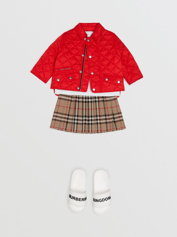 Lightweight Diamond Quilted Jacket in Bright Red - Children | Burberry - cell image 2