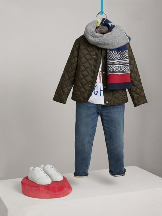 Стеганая куртка (Оливковый)